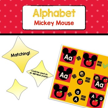 Alphabet Matching - Mickey Mouse