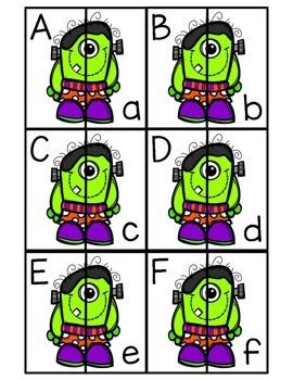 Alphabet Matching October and Halloween Center