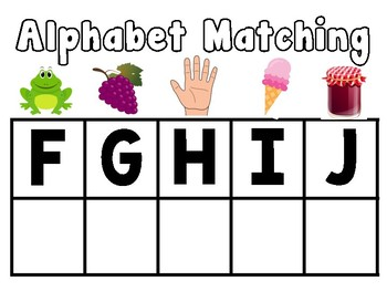 Alphabet Matching Packet