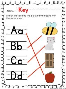 Alphabet Matching Printable
