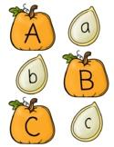 Alphabet Matching Pumpkins and Seeds