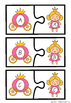 Alphabet Matching Puzzles - Princess Themed - QLD FONT