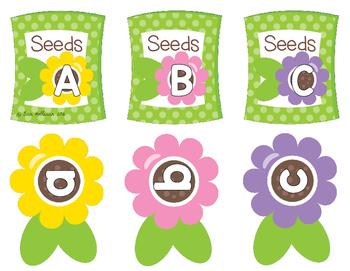 Alphabet Matching - Spring Flower Garden