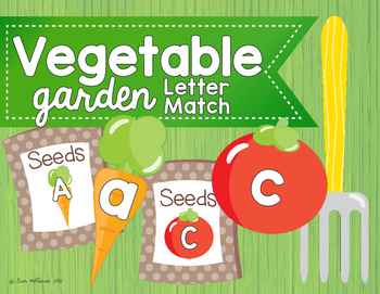 Alphabet Matching - Summer Vegetable Garden