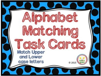 Alphabet Matching Task cards