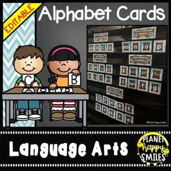 Alphabet Matching (Teal and Chalkboard)