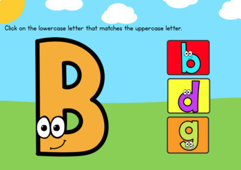 Alphabet Matching – Uppercase & Lowercase Letters – Boom Cards