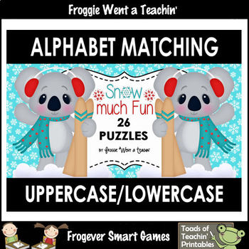 "Alphabet -- Matching Uppercase/Lowercase Letters Puzzles -- ""Snow Much Fun"""