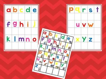 Alphabet Matching Work Mats.  Printable Preschool Curriculum Game