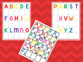 Alphabet Matching Work Mats.  Printable Preschool Curriculum Game