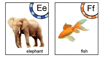 Alphabet Matching cards, visual discrimination, phonic sounds, letters, alphabet