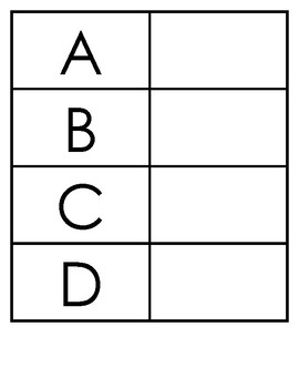 Alphabet Matching (with Data Sheets!)