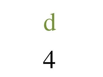 Alphabet Math: Numbers 1-26