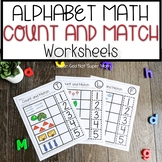 Preschool Math Worksheets Counting 1-5 with the Alphabet