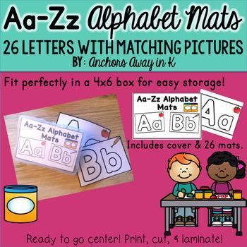 Alphabet Mats 4x6 version