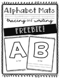 Alphabet Mats FREEBIE! / / / Letter and Name Tracing + Writing
