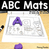 Alphabet Mats: Fill & Find ABC Playdoh or Dry Erase Sign L