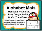 Alphabet Mats - PRINT & GO! - Wikki Stix, Play Dough, Paint, Crafts, Trace/Color