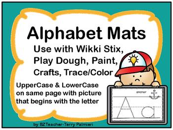 Alphabet Mats - PRINT & GO! - Wikki Stix, Play Dough, Pain