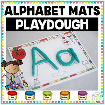 Alphabet Mats {Playdough}
