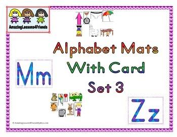 Alphabet Mats With Cards Set 3