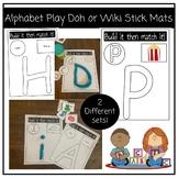 Alphabet Mats and Match!- Wikki Stix or Play Doh