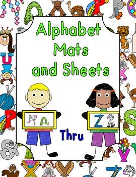 Alphabet Mats and Sheets Nn Thru Zz
