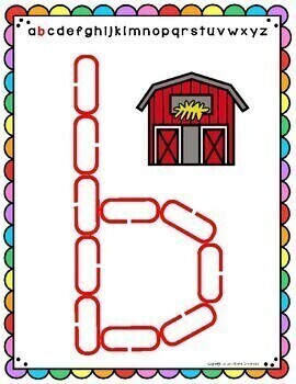 Alphabet Mats for Links - ENGLISH Lowercase (Playdough Alternative) Link & Learn