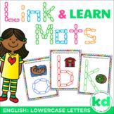 Alphabet Mats for Links - ENGLISH LOWERCASE (Playdough Alternative) Link & Learn
