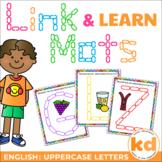 Link & Learn Alphabet Mats - ENGLISH UPPERCASE - playdough alternative