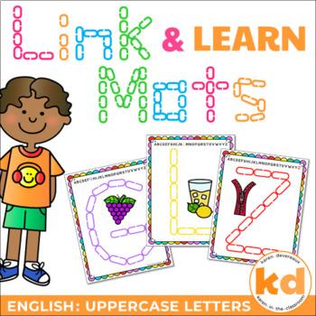 Alphabet Mats for Links - ENGLISH Uppercase (Playdough Alt