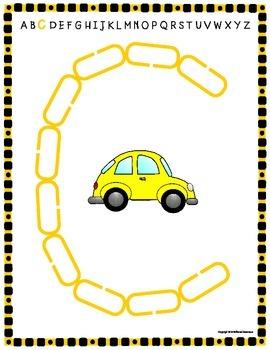 Alphabet Mats for Links - FREEBIE (Playdough Alternative) Link & Learn