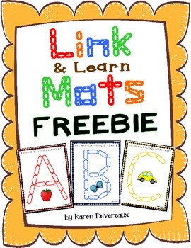 Alphabet Mats for Links - FREEBIE (Playdough Alternative)
