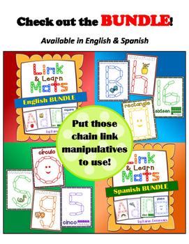 Alphabet Mats for Links - SPANISH Lowercase (Playdough Alternative) Link & Learn