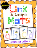 Alphabet Mats for Links - SPANISH Lowercase (Playdough Alternative) Link & Learn