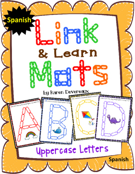 Alphabet Mats for Links - SPANISH Uppercase (Playdough Alt