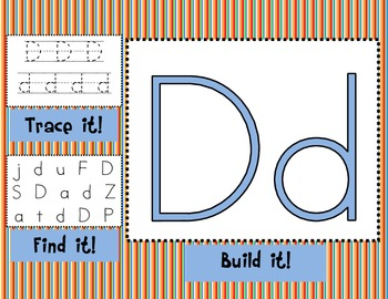 Alphabet Mats for Literacy Stations