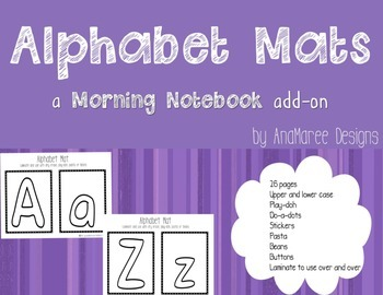 Alphabet Mats for tracing, do-a-dots, play-doh. Upper and lower case.