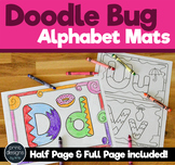 Alphabet Mats in Doodle Bug Font for Coloring