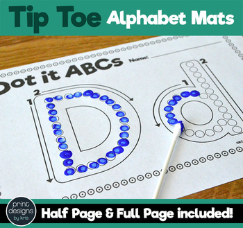 Alphabet Mats in Q-tip TIP TOE Font for Painting