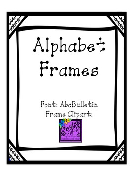 Alphabet Mats or Word Wall Letters