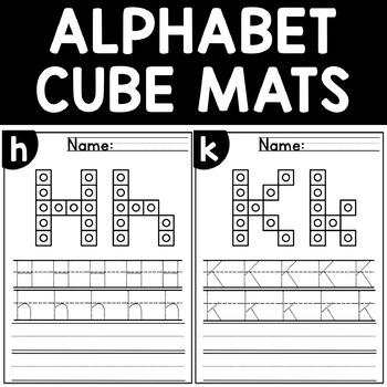Alphabet Mats Fine Motor Skill Activity Counting Cubes