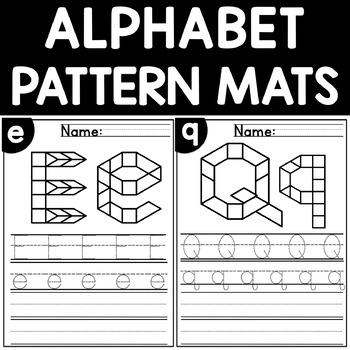 Alphabet Mats Fine Motor Skill Activity Pattern Block Mats