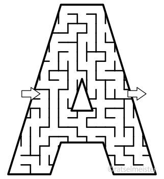 Alphabet Maze Clipart, Letters A, B, C, D, E, F, Commercial Use Allowed