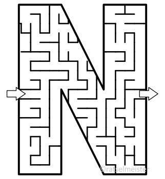 Alphabet Maze Clipart, Letters N, O, P, Q, R, S, Commercial Use Allowed