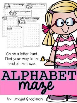 Alphabet Maze: Letter Recognition Activity