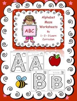 Alphabet Maze Worksheets