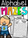 Alphabet Maze Worksheets - Letter Recognition - Distance Learning