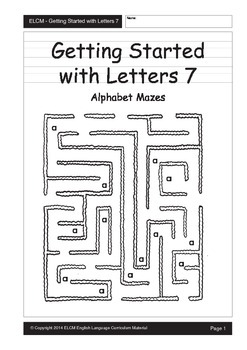 Alphabet Mazes (29 pages)