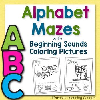 Alphabet Mazes - Beginning Sounds!